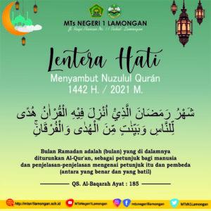 Peringatan Nuzulul Quán 1442 H. MTs Negeri 1 Lamongan