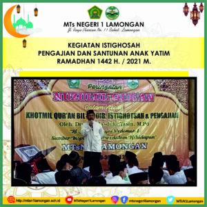 Rangkaian Nuzulul Qur'an, Pengajian dan Santunan Anak Yatim MTsN 1 Lamongan