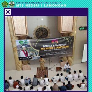 Kegiatan Pondok Ramadhan 1442 H. / 2021 M. MTs Negeri 1 Lamongan