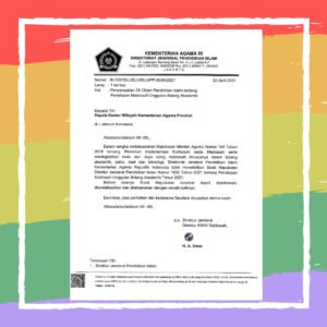 MTs Negeri 1 Lamongan menjadi Madrasah Unggul Bidang Akademik Tahun 2021