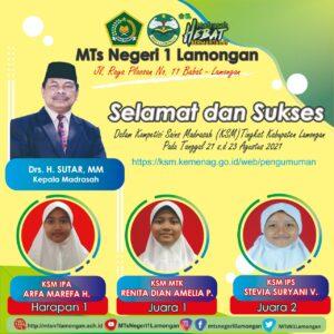 Prestasi MTs Negeri 1 Lamongan di KSM Kabupaten Lamongan